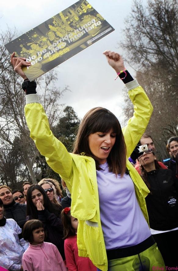 Cristina Mitre en una de las quedadas de Mujeres que corren